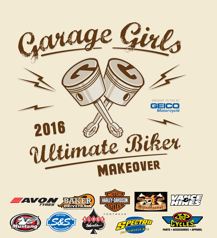 GarageGirls 2016 Ultimate Biker Makeover Sponsors
